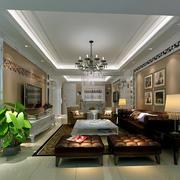 别墅型时尚客厅装修效果图