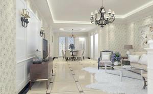 时尚奢华别墅欧式客厅装修效果图