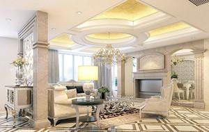 绝对奢华的别墅欧式客厅装修效果图