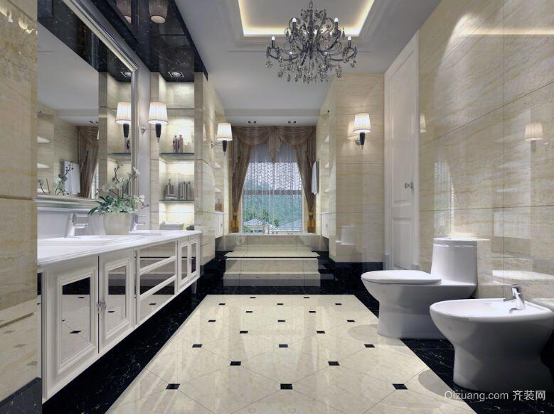 现代精致的别墅型欧式卫生间室内装修效果图
