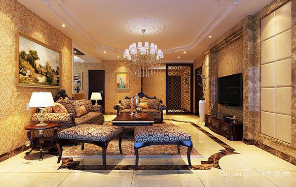 140平米现代简欧风格时尚客厅装修效果图