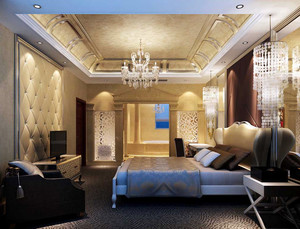现代简约时尚欧式风格卧室装修效果图