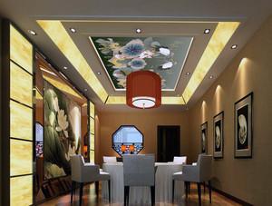 中式风格大户型室内吊顶装修效果图欣赏