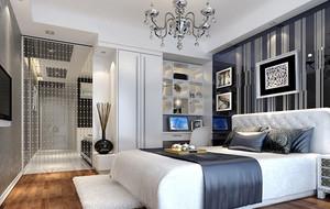 后现代风格时尚简约卧室装修效果图