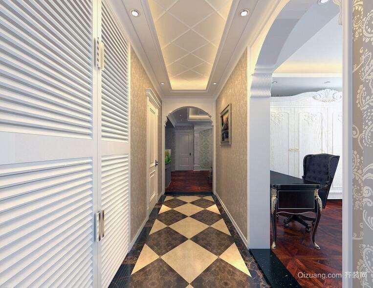 欧式风格别墅型完美室内玄关装修效果图