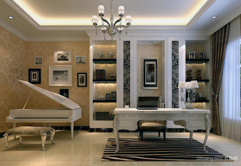 精致的别墅型欧式书房装修效果图欣赏