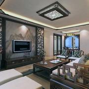 精致的别墅型完美中式客厅装修效果图欣赏