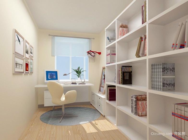 白领们都喜欢的现代简约精致书房效果图
