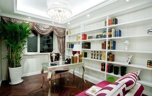 欧式豪华别墅奢侈书房装修效果图