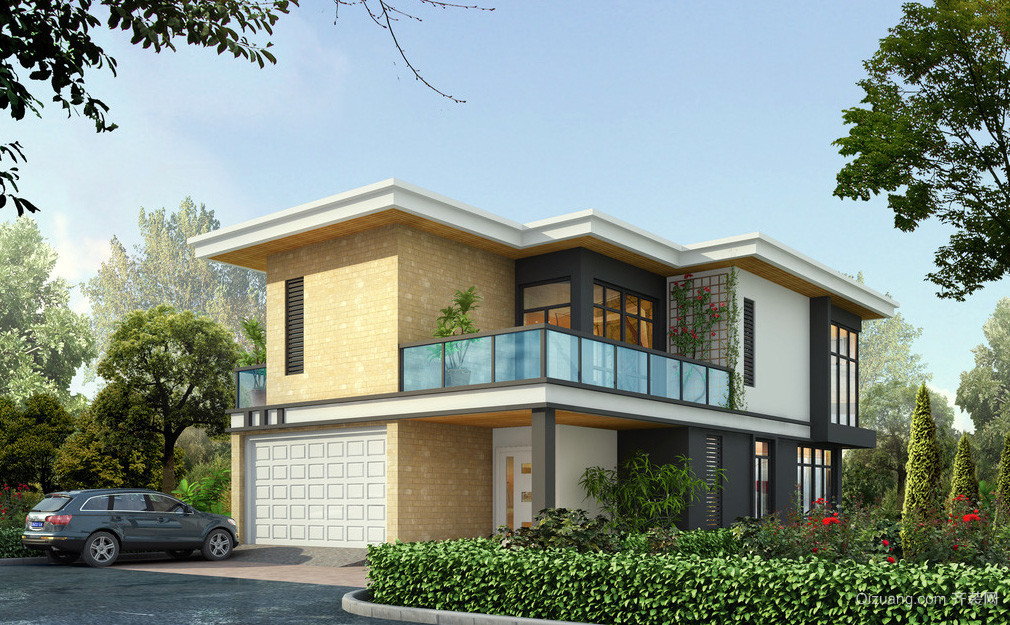 现代时尚简约别墅整体设计效果图