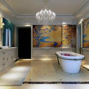 2016别墅唯美的欧式风格浴室装修效果图欣赏