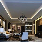 100平米欧式风格室内客厅装修效果图欣赏