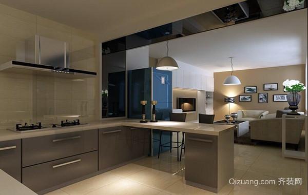 欧式120平米大户型开放式厨房吊顶装修效果图