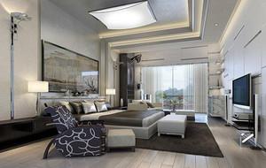 大户型后现代装修风格卧室吊顶装修效果图