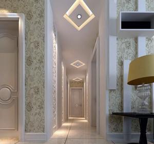 现代欧式经典的别墅型过道吊顶装修效果图