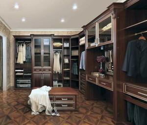 欧式风格大户型步入式衣帽间装修效果图实例