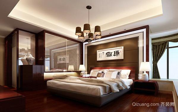 2016别墅欧式风格家庭卧室背景墙装修效果图