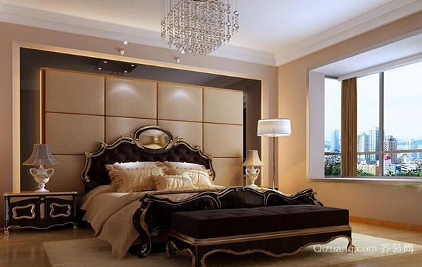 2016精致欧式卧室软包背景墙装修效果图实例