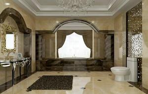 欧式风格别墅型精致洗手间吊顶装修效果图