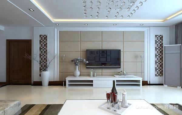欧式风格大户型精致客厅电视背景墙装修效果图