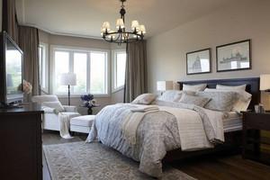 现代时尚简欧风格卧室装修效果图
