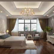 时尚水晶吊灯卧室装修效果图