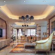 现代欧式别墅型客厅室内装修效果图欣赏