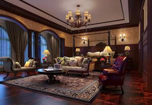 时尚奢华精致别墅客厅装修效果图