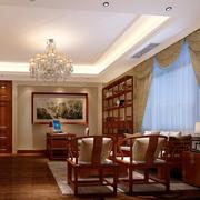 现代精致中式风格客厅装修效果图