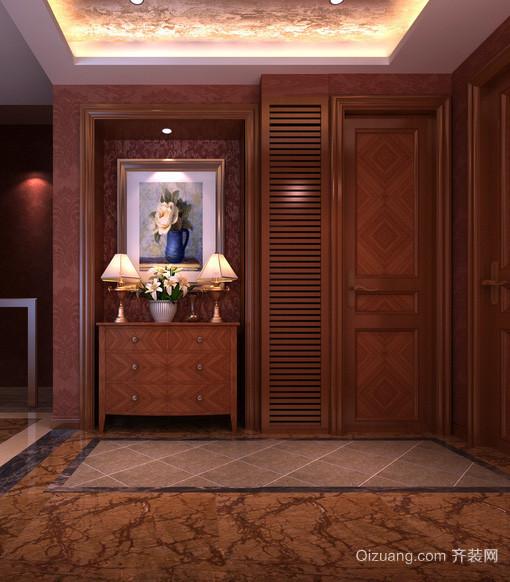 别墅型东南亚风格玄关装修效果图