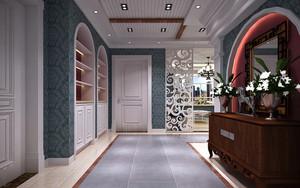 现代时尚别墅玄关装修效果图
