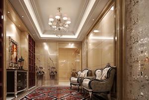 别墅型欧式风格玄关整体装修效果图