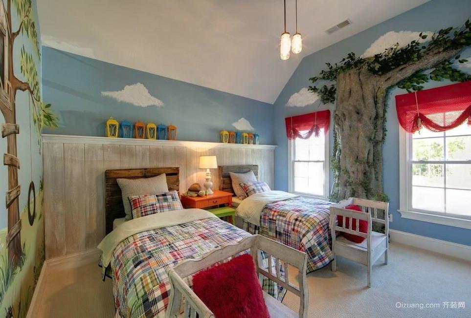 地中海风情儿童房装修效果图