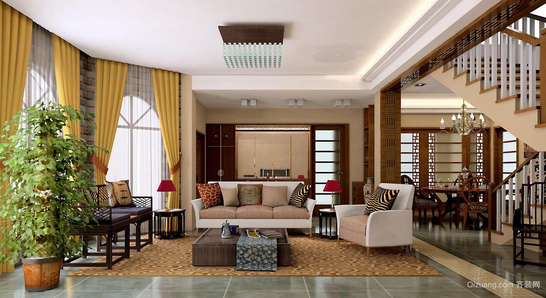 复式小楼时尚混搭客厅装修效果图
