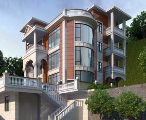 现代风格三层别墅装修效果图
