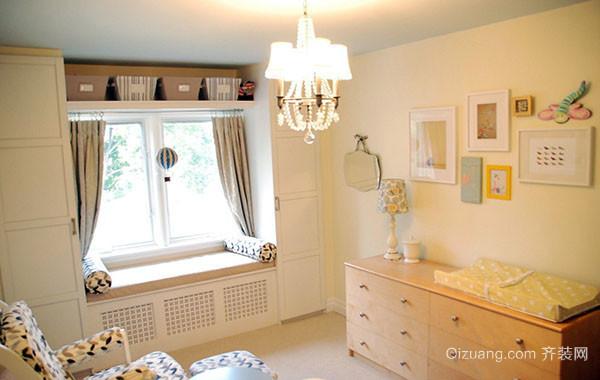 现代时尚简约卧室飘窗装修效果图