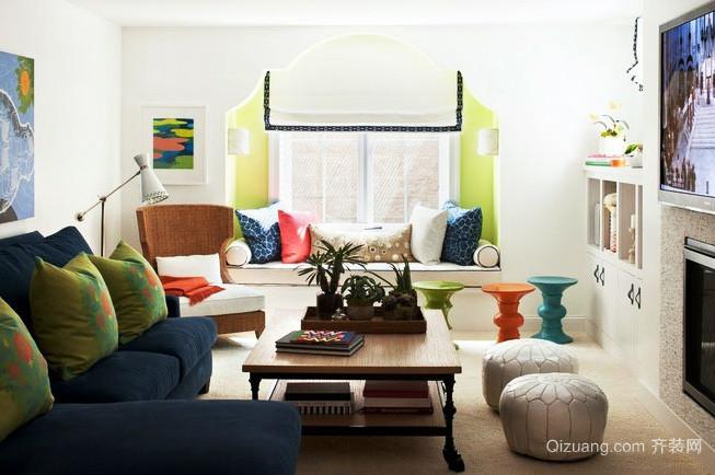 时尚简约风格客厅飘窗效果图