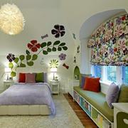 轻快时尚儿童房飘窗设计效果图