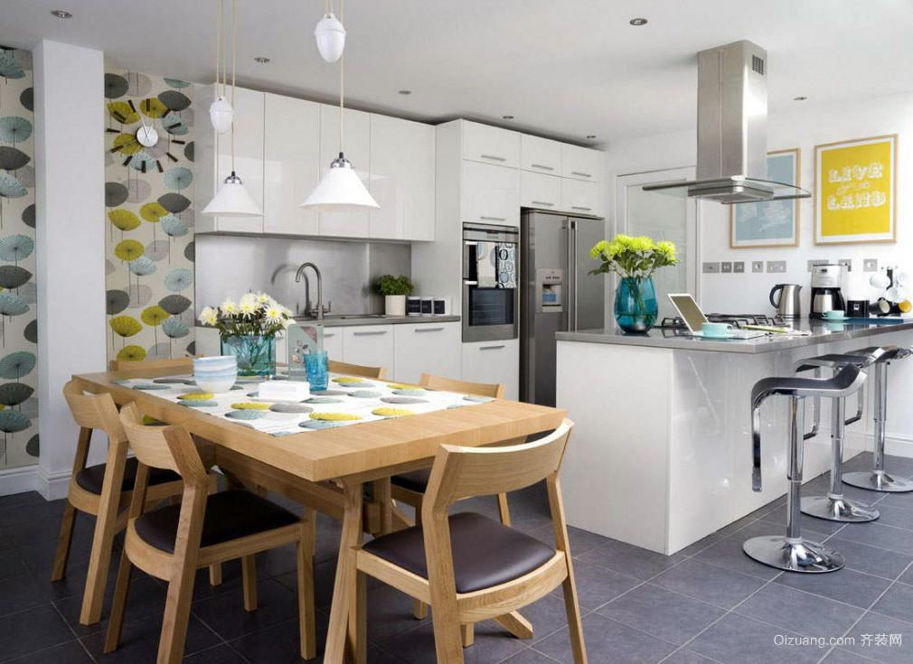 现代风格精致开放式厨房效果图