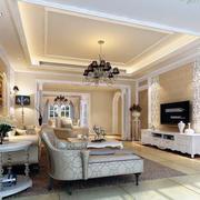 大户型经典的现代欧式客厅装修效果图实例