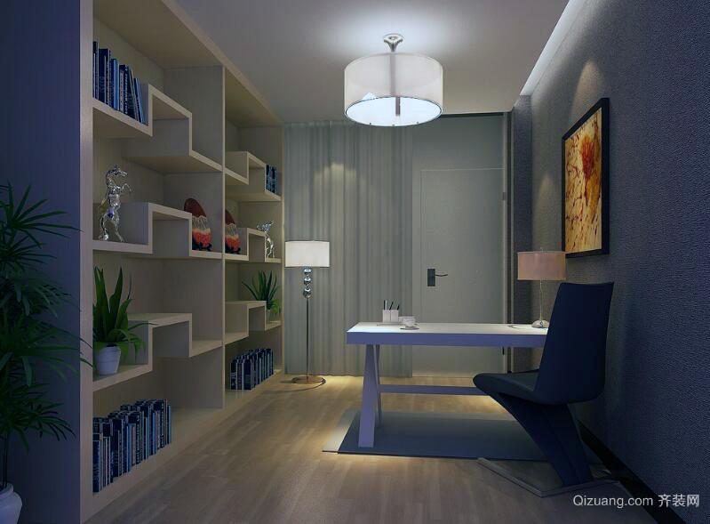 现代精致的大户型书房装修效果图实例