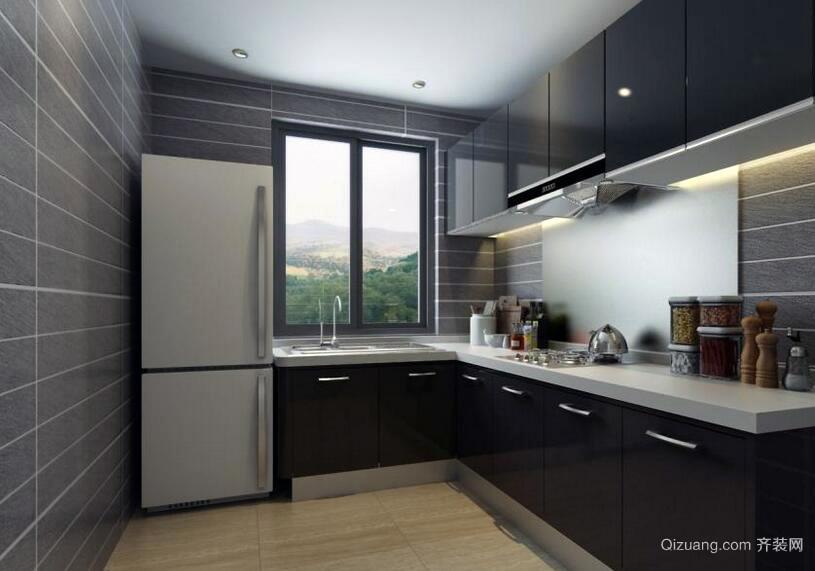 120平米欧式时尚大户型厨房橱柜效果图鉴赏