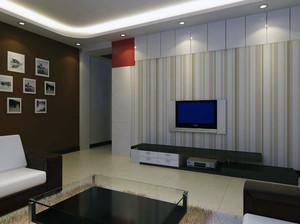 现代室内都市大户型电视墙背景装修效果图