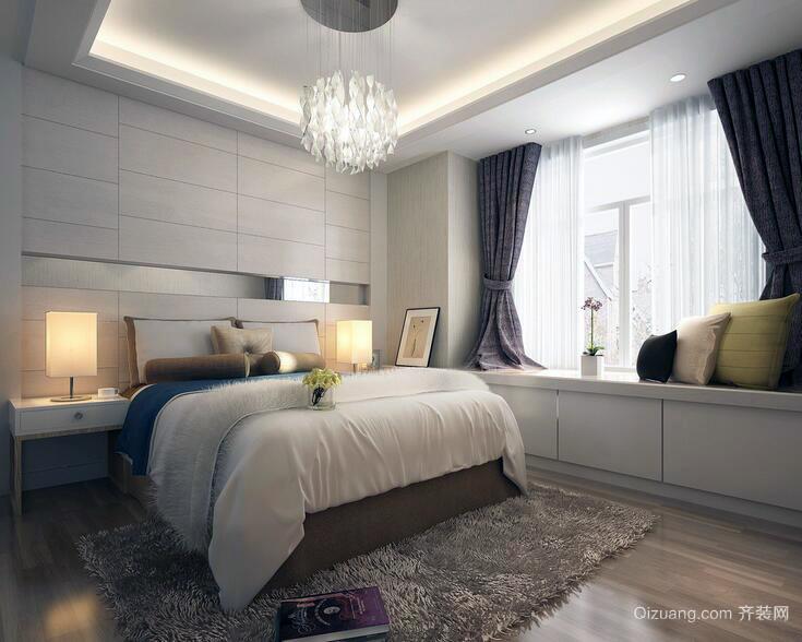 90平米欧式精美的大户型卧室背景墙装修效果图