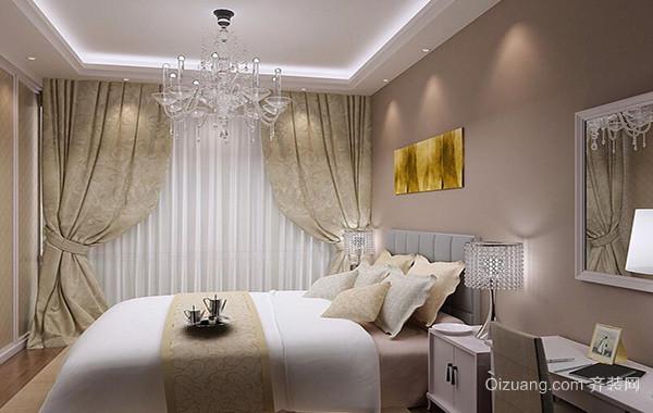 2016别墅型简欧风格卧室吊顶装修效果图