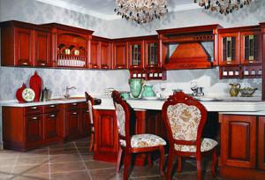 美式装修风格样板房厨房橱柜装修效果图欣赏