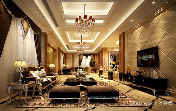 别墅型精致的现代欧式客厅装修效果图鉴赏