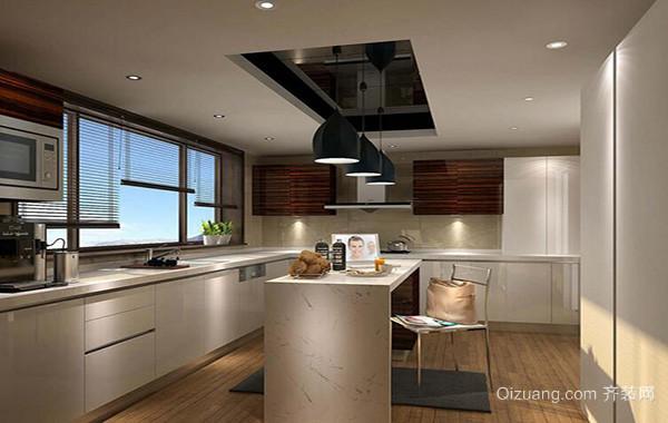 精美大户型欧式开放式厨房吊顶装修效果图实例