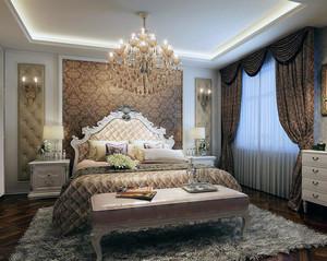 2016欧式风格卧室床头背景墙装修效果图鉴赏