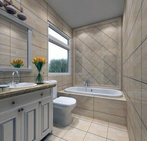 120平米欧式大户型洗手间吊顶装修效果图鉴赏